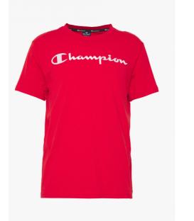 camiseta champion crewneck para hombre en color rojo al mejor precio en tu tienda online chemasport.es