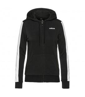 Chaqueta para mujer adidas W TRFC de color negro con capucha y bolsillos al mejor precio en tu tienda de deportes online chemasport.es