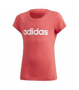 Camiseta para niños adidas YB E Lin Tee de color rosa al mejor precio en tu tienda de deportes online chemasport.es