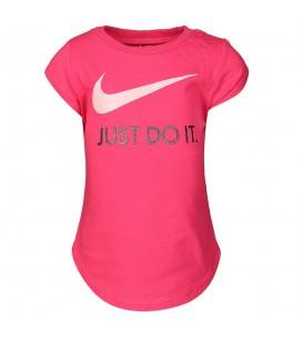 camiseta nike swoosh jus do it para niño en color fucsia al mejor precio en tu tienda online chemasport.es