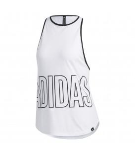 Camiseta de fitness para mujer adidas Alphaskin de color blanco al mejor precio en tu tienda de deportes online chemasport.es