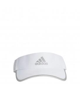 Visera de running unisex adidas Aeroready Runner de color blanco al mejor precio en tu tienda de deportes online chemasport.e