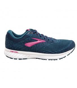 Deportivas de running para mujer Brooks Revel 3 de color azul marino baratas en tu tienda de deportes online barata chemasport.es
