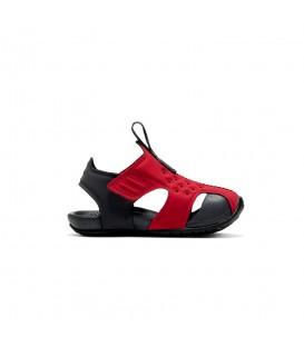 Chanclas de piscina y playa para niños Nike Sunray Protect 2 de color rojo al mejor precio en tu tienda de deportes barata chemasport.es
