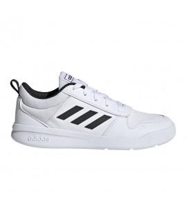 Deportivas para mujer y niños adidas Tensaurus K de color blanco y negro con cordones al mejor precio en chemasport.es