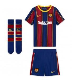 Conjunto para niños Nike Primera equipación Fútbol Club Barcelona 2020 2021. El conjunto del barsa para niños barato en chemasport.es