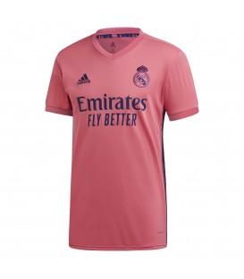 Camiseta de fútbol adidas segunda equipación Real Madrid temporada 2020/21 de color coral al mejor precio en chemasport.es