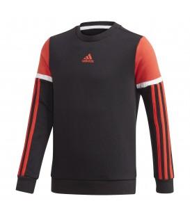 Sudadera para niños adidas JB A Bold Crew de color negro con logo de adidas en el pecho al mejor precio en chemasport.es