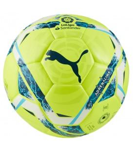Balón de fútbol de partido Puma La Liga Adrenalina Hybrid de color amarillo al mejor precio en tu tienda de deportes online chemasport.es