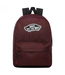 Mochila para el colegio unisex Vans WM Realm Backpack de color granate con detalles de color negro al mejor precio en chemasport.es