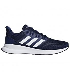 Deportivas de running para hombre adidas Runfalcon F36201 de color azul marino al mejor precio en chemasport.es