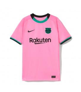 Compra la camiseta nike fc barcelona junior en color rosa de la temporada 2020/21 en chemasport.es