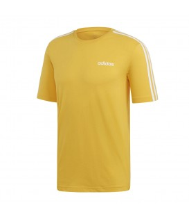 Disponible la camiseta adidas essentials 3 bandas para hombre en color amarillo en chemasport.es