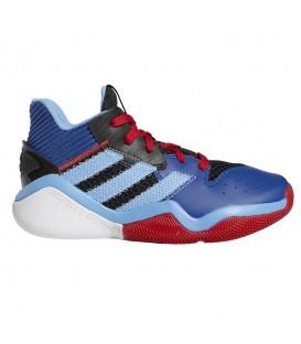 zapatillas adidas harden setpback para baloncesto de niño en color azul disponibles en tu tienda online chemasport.es