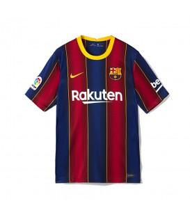 Comprar camiseta primera equipación FC Barcelona 2020/21 de franjas azulgrana al mejor precio en tu tienda de fútbol online chemasport.es