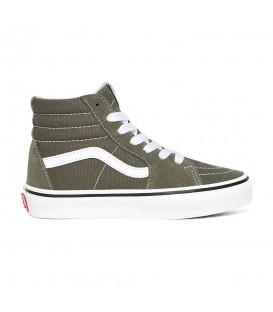 zapatillas vans sk-8 en botin de color verde para niño al mejor precio en tu tienda online chemasport.es