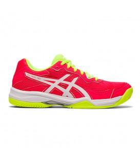 Las zapatillas asics gel padel pro 4 para mujer en color rosa al mejor precio en la tienda online chemasport.es