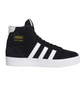 Zapatillas adidas original basket profit para niños y mujer en color negro con bandas blancas en la tienda online chemasport.es