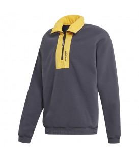 sudadera adidas adventure block fleece en color gris para hombre en la tienda online chemasport.es