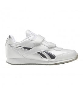 zapatillas reebok royal classic jogger 2v para niños en color blanco y plata en tu tienda online chemasport.es