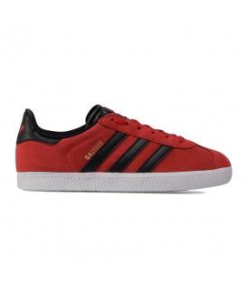 zapatillas adidas gazelle j para mujer y niños en color rojo en la tienda online chemasport.es