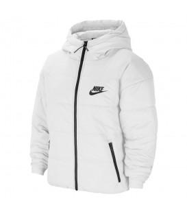 cazadora nike sportwear core w para mujer en color blanco en la tienda online chemasport.es