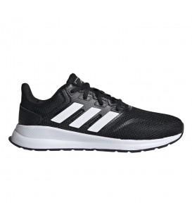 zapatillas adidas runfalcon k para mujer y niños en color negro en la tienda online chemasport.es
