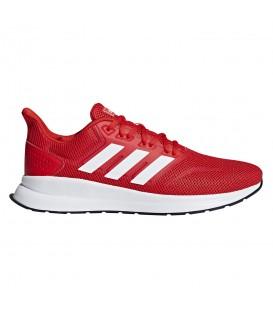 zapatillas adidas runfalcon para hombre en color rojo en la tienda online chemasport.es