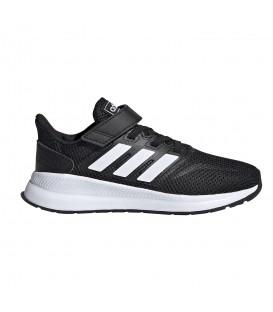 zapatillas adidas runfalcon c para niños con velcro en color negro para niños en la tienda online chemasport.es