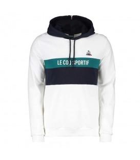 Sudadera le coq sportif saison 2 hoody para hombre en color blanco en la tienda online chemasport.es