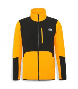 Chaqueta polar the north face glacier pro full zip para hombre en color mostaza en la tienda online chemasport.es