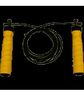 cuerda de saltar jim sport en color amarillo de tres metros de longitud al mejor precio