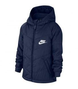 cazadora nike sportswear para niño en color azul marino al mejor precio en tu tienda online chemasport.es