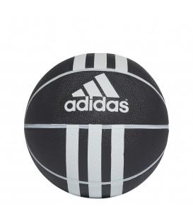 balón adidas baloncesto 3s rubber en color negro al mejor precio en tu tienda online chemasport.es