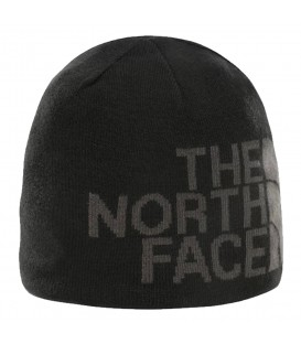 gorro the north face banner beanie reversible en color negro y gris en la tienda online chemasport.es