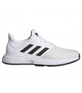 zapatillas adidas game court para hombre en color blanco al mejor precio disponible en tu tienda online chemasport.es