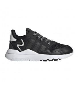 zapatillas adidas nite jogger para niño en color negro al mejor precio en tu tienda online chemasport.es