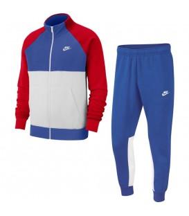 chandal nike sportswear para hombre en color azul con rojo al mejor precio