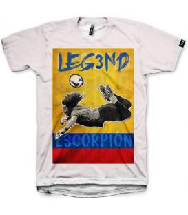camiseta leg3nd escorpión unisex en color blanco al mejor precio