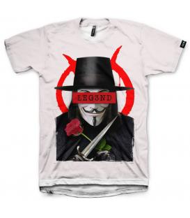 camiseta leg3nd vendetta unisex en color blanco al mejor precio en tu tienda online chemasport.es