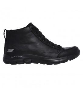 Zapatillas skechers flex appeal 2.0 warm wishes en color negro para mujer en la tienda online chemasport.es