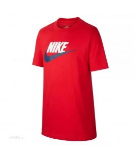 Camiseta nike sportwear para niño en color rojo disponible en la tienda online chemasport.es