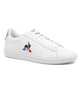 Zapatillas le coq sportif courtset para hombre de piel en color blanco en la tienda online chemasport.es