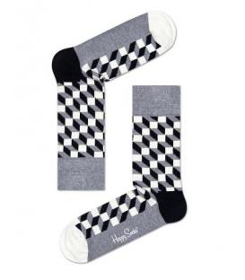 calcetines happy socks filled optic en color gris y negro al mejor precio en tu tienda online chemasport.es