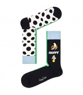calcetines happy socks alloverdots en color blanco y negro al mejor precio