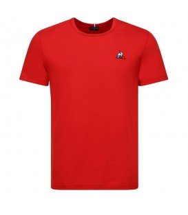 camiseta le coq sportif essentiels en color rojo disponible en la tienda online chemasport.es