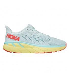 Zapatillas hoka clifton 7 para mujer en color azul en la tienda online chemasport.es