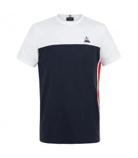 Camiseta le coq sportif saison tee para hombre en color blanco con detalles de la marca disponible en la tienda online chemasport.es