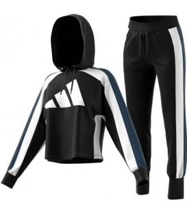 chandal Adidas logo para mujer en color negro al mejor precio