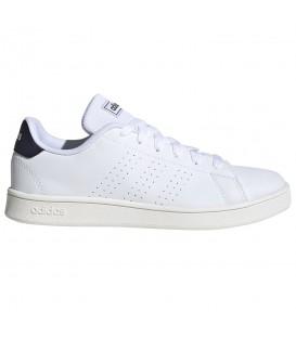 Compra las zapatillas Adidas Advantage K blanco y negro para mujer a precio outlet